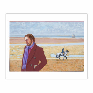 'Self-portrait, Humber Estuary, 1970s', (2012). Oil on canvas, 80 x 120 cm