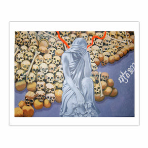 'Victims of the Khmer Rouge', (2008), oil on linen, 140 x 100 cm.