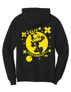 Felix The Cat Chevrolet Retro 1940's Mens Hoodie