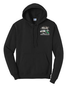 "Felix Chevrolet Mens Felix The Cat Green ""Metal Flake"" Low Rider Hoodie"