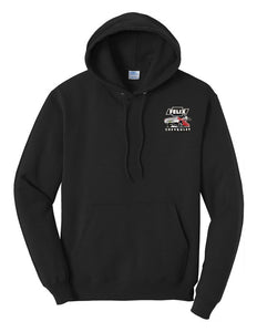 "Felix Chevrolet Men Red ""Metal Flake"" Low Rider Hoodie"
