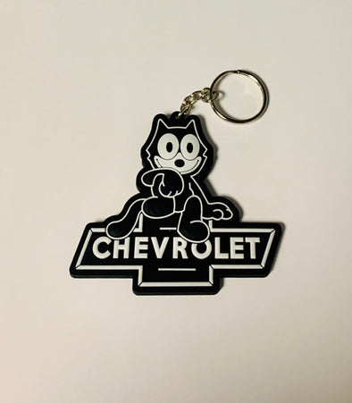 Felix The Cat Chevrolet Sign Key Chain