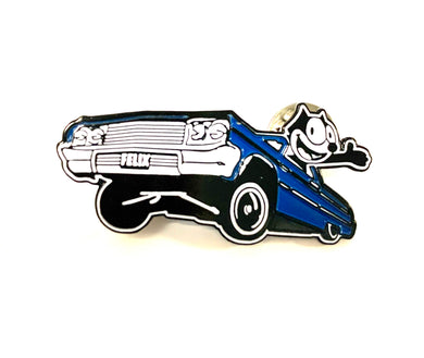Felix The Cat 64 Low Rider Pin in Gloss Red, Gloss Blue and Gloss Black - Glow in the dark