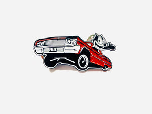 Felix The Cat 64 Low Rider Pin in Red and Blue