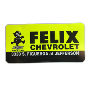 Vintage Felix Chevrolet License Plate Insert - Insert Only