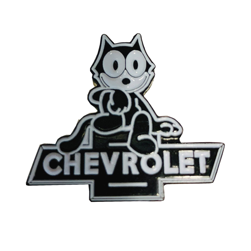 Felix Chevrolet 1960's Replica Employee Pin - Felix The Cat