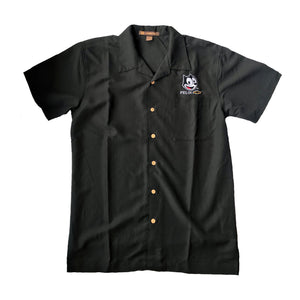 Felix Chevrolet Bowling Shirt Men in Khaki & Black