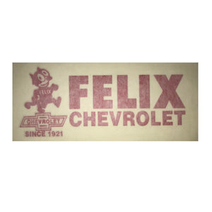 Felix Chevrolet Blue Decal Sticker (6 X 2 Inches)