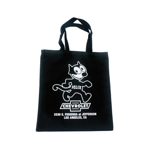 Black Cloth Felix Chevrolet Tote Bag