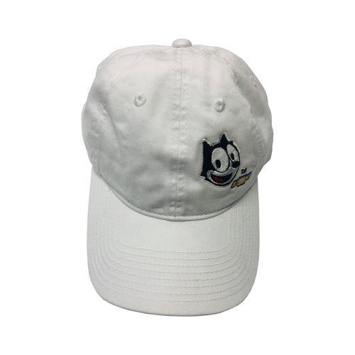 White Felix Chevrolet Baseball Cap With Buckle Closure
