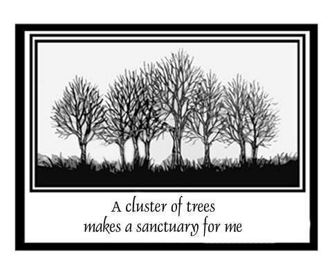 """Cluster of Trees"" notecards"
