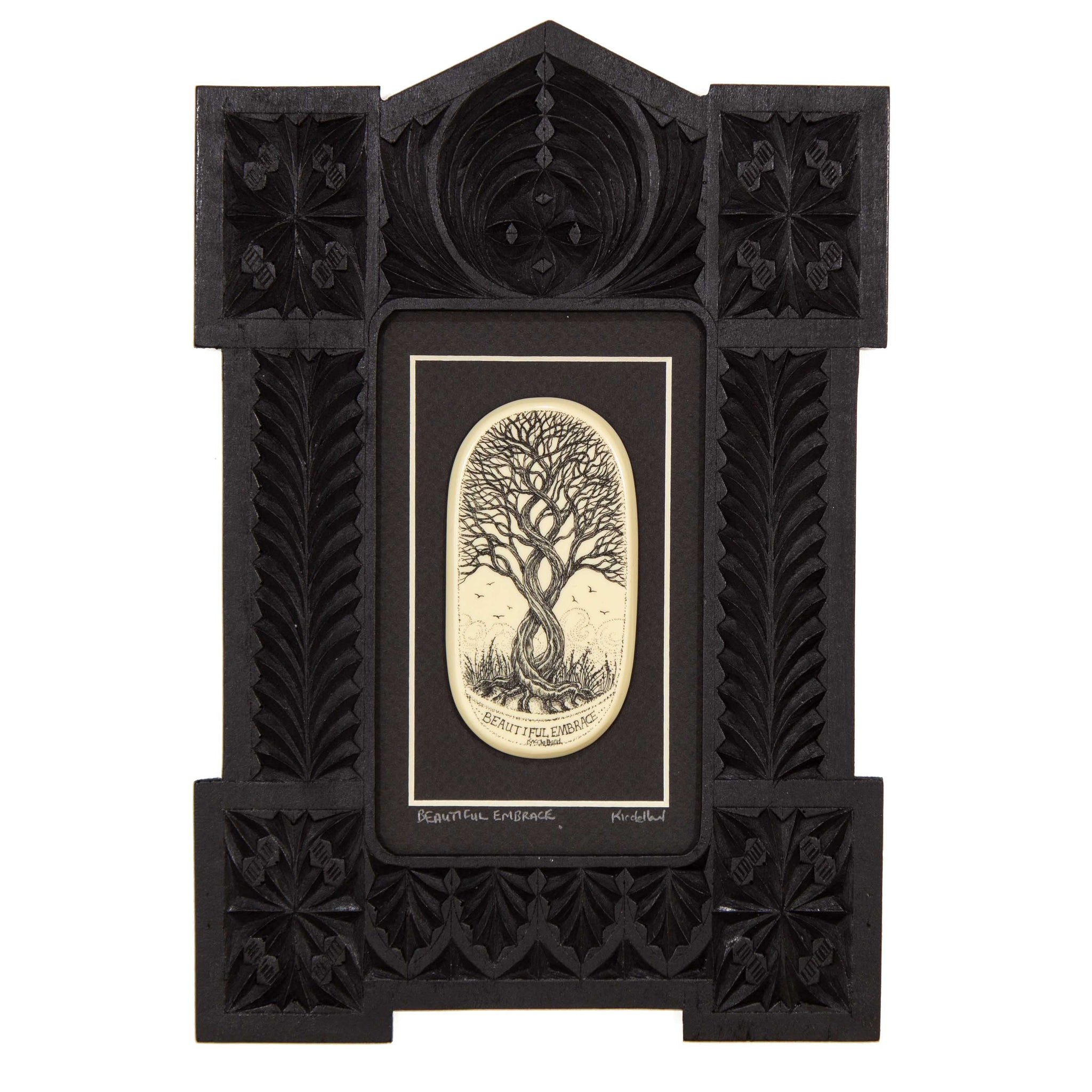 """Beautiful Embrace"" Large Chip Carved Frame"