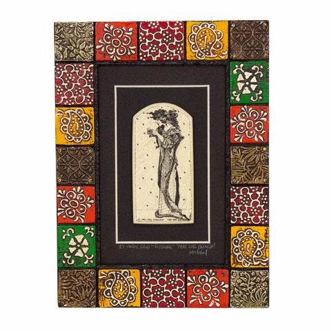 """It Only Said… ""Forever"" That was Enough!"" Painted Mosaic Wood Frame"