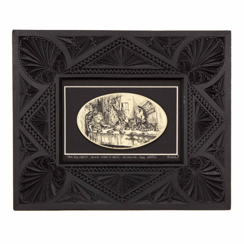 """The Tea Party"" Large Chip Carved Frame"