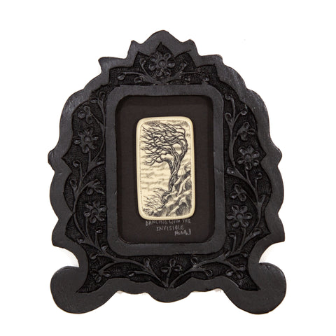 """Dancing with the Invisible"" Small Chip Carved Frame"