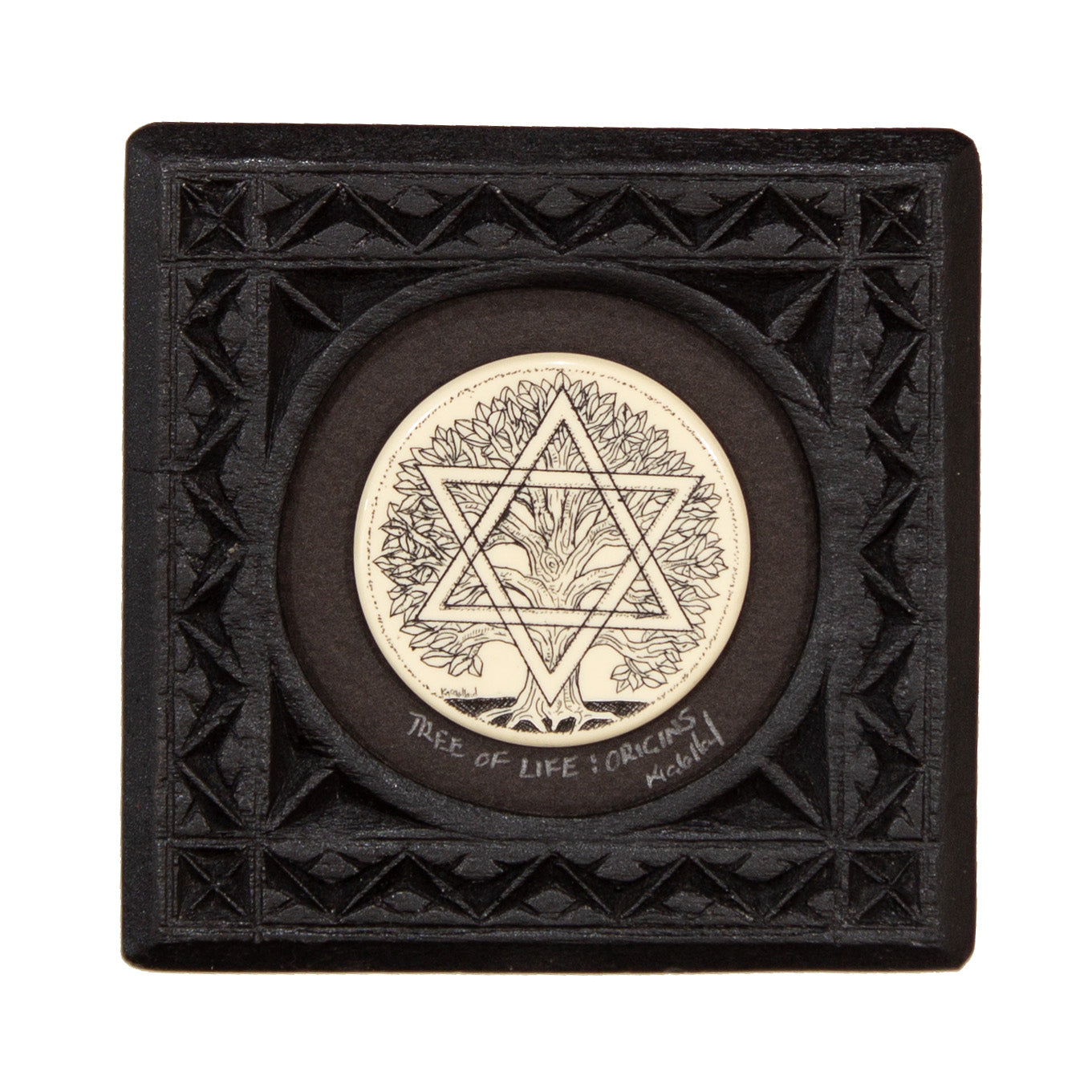 """Origins"" Small Chip Carved Frame"