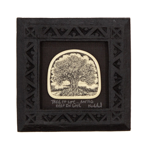 """Tree of Life… Rooted in Love"" Small Chip Carved Frame"
