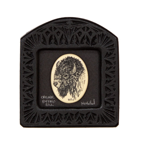 """The Original Buffalo Bill"" Small Chip Carved Frame"