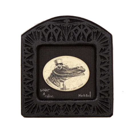 """What a Croc"" Small Chip Carved Frame"