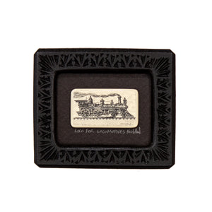 """Loco for Locomotives"" Small Chip Carved Frame"