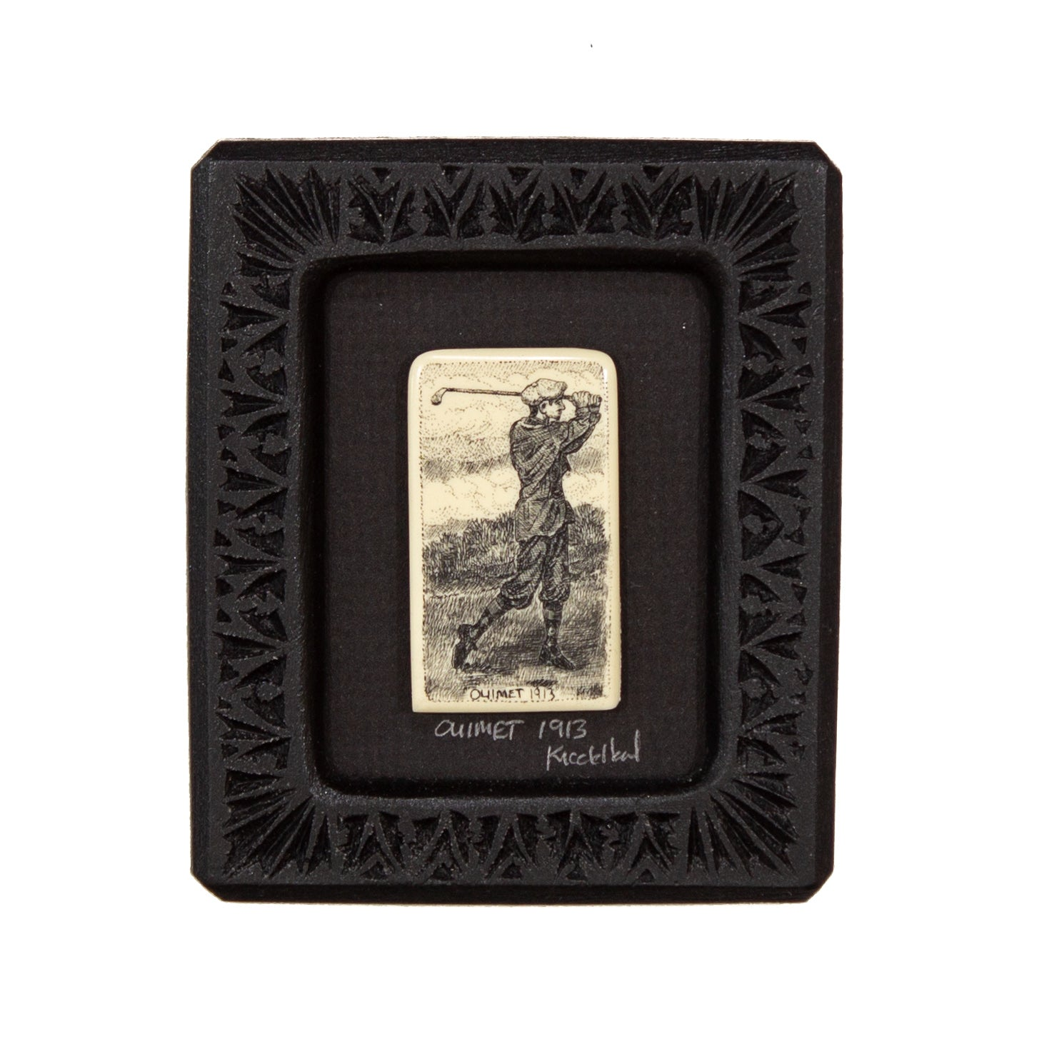 """Ouimet 1913"" Small Chip Carved Frame"