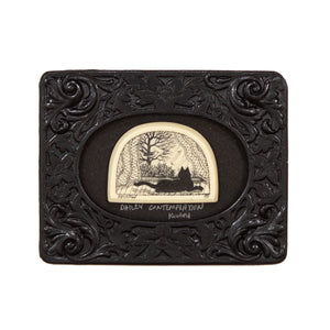 """Daily Contemplation"" Mini Chip Carved Frame"