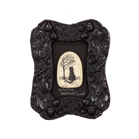 """Wishful Thinking!"" Mini Chip Carved Frame"