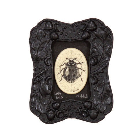 """Lady Bug"" Mini Chip Carved Frame"