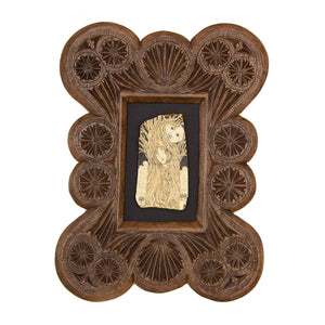 """Caught the Moon in My Branches… He didn't Seem to Mind"" Large Chip Carved Frame"