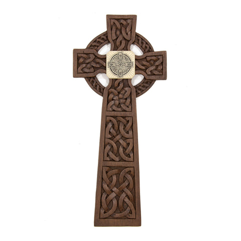 """Celtic Cross"" Large Chip Carved Frame"