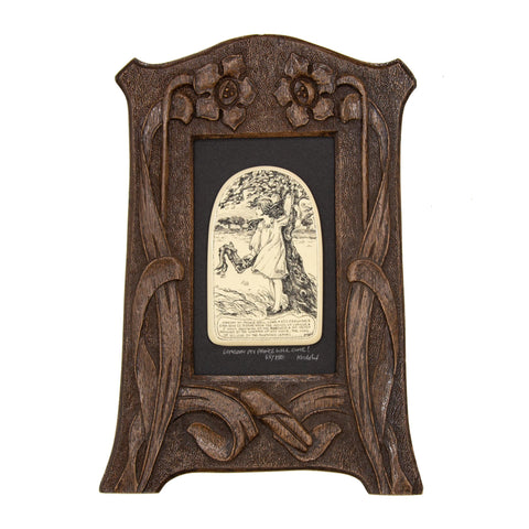 """Someday My Prince Will Come!"" Large Chip Carved Frame"