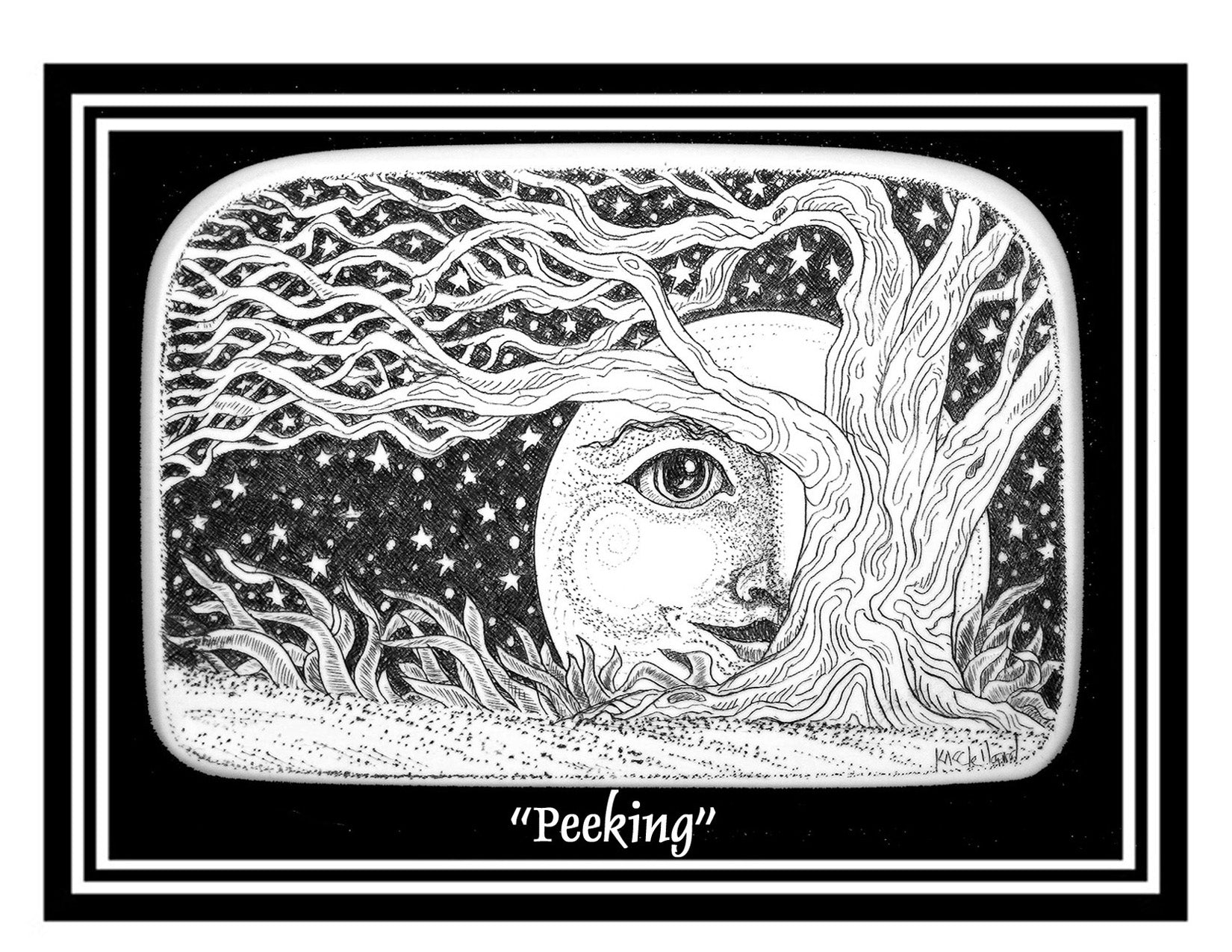 """Peeking"" notecards"