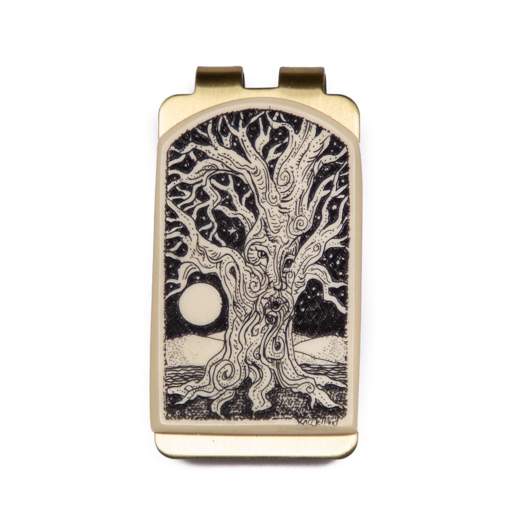 """Full Moon Singer"" Money Clip"
