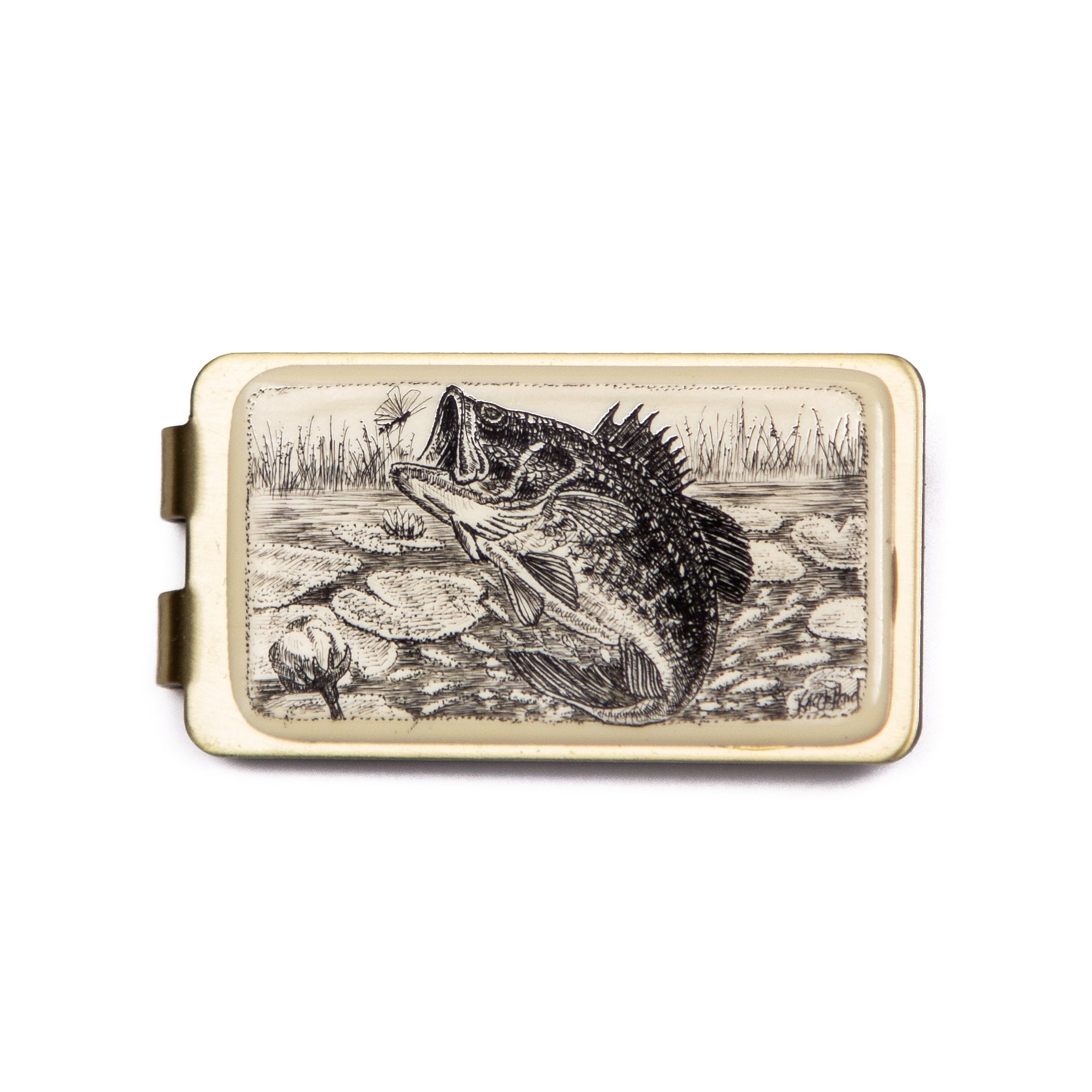 """Large Mouth Bass"" Money Clip"