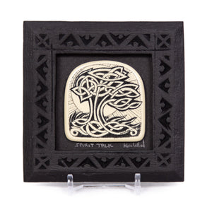 """Spirit Talk"" Small Chip Carved Frame"