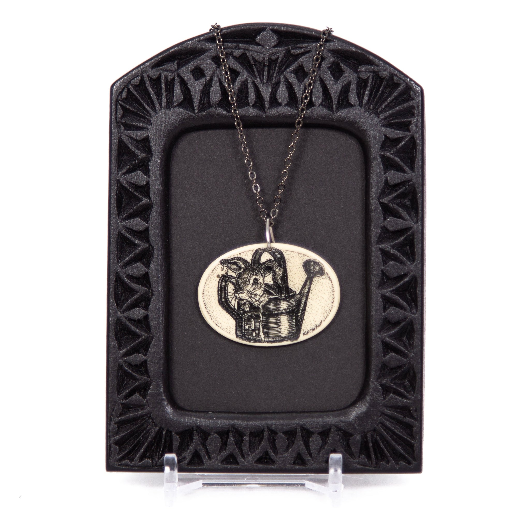 """Hiding from Mr. McGregor"" Necklace with Chain"