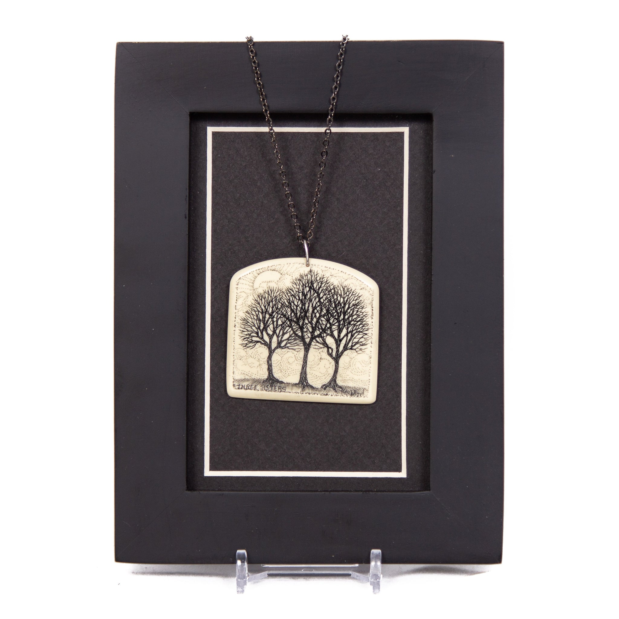 """Three Sisters Always Together Through the Seasons of Life"" Necklace with Chain"