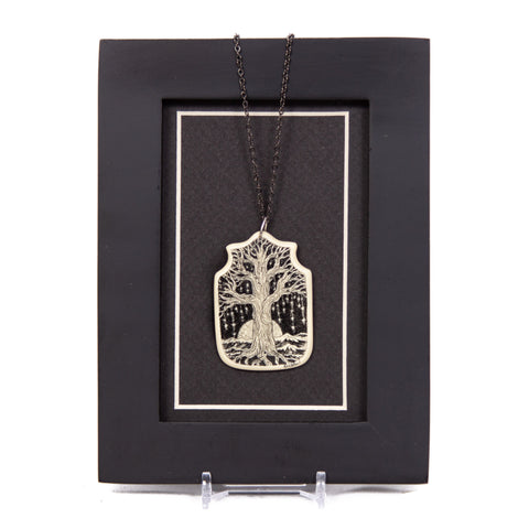 """Somewhere Near The Edge of the World Trees Drip with Stars"" Necklace with Chain"