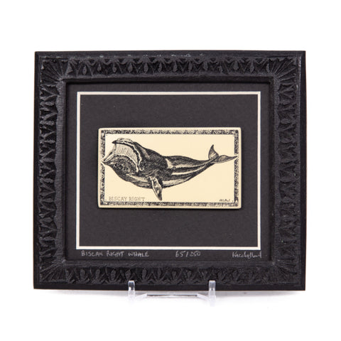 """Biscay Right Whale"" Large Chip Carved Frame"