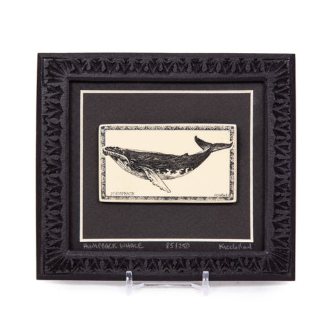 """Humpback Whale"" Large Chip Carved Frame"