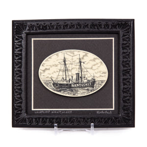 """Lightship Nantucket"" Large Chip Carved Frame"
