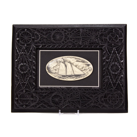 """America: The Low Black Rider"" Large Chip Carved Frame"