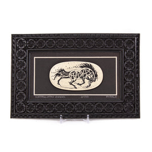 """Constellation Runner"" Large Chip Carved Frame"