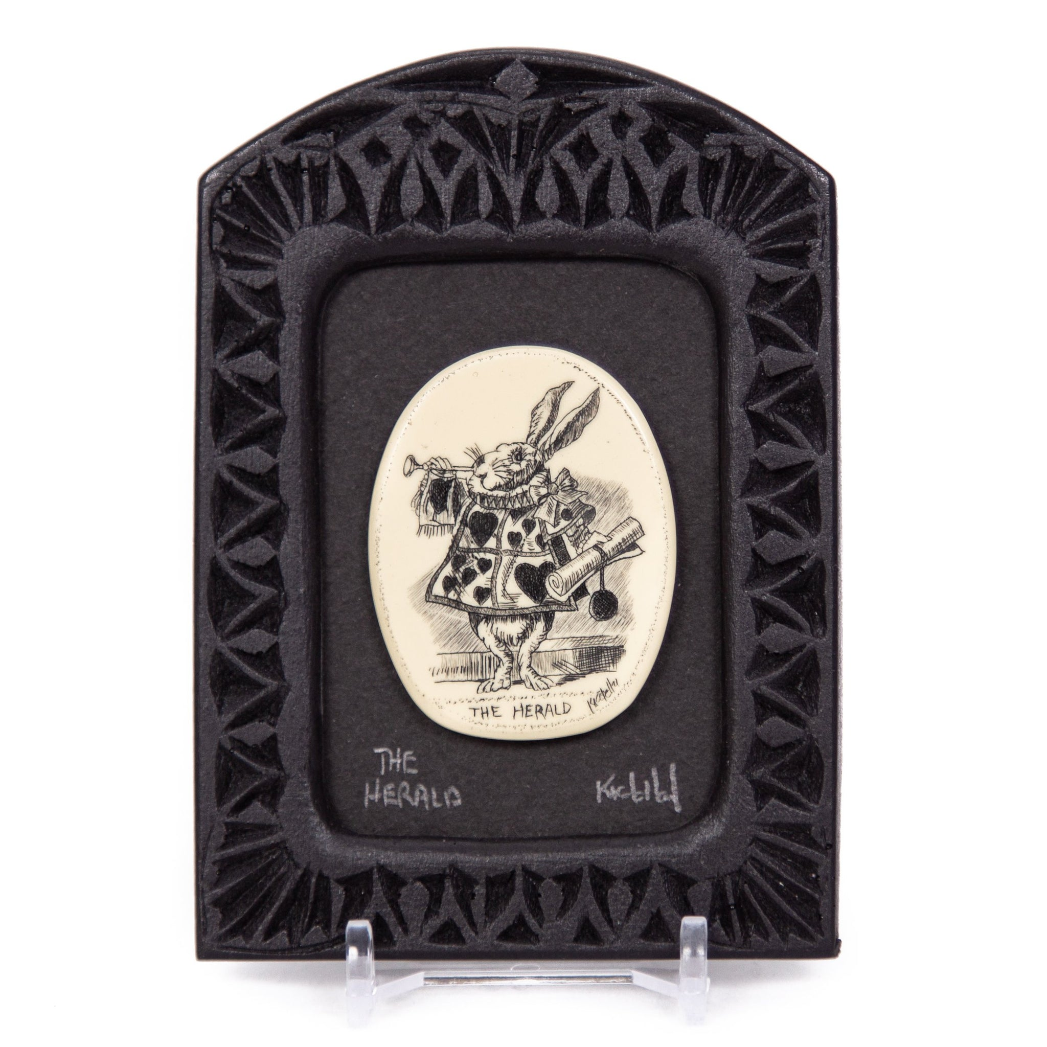 """The Herald"" Small Chip Carved Frame"