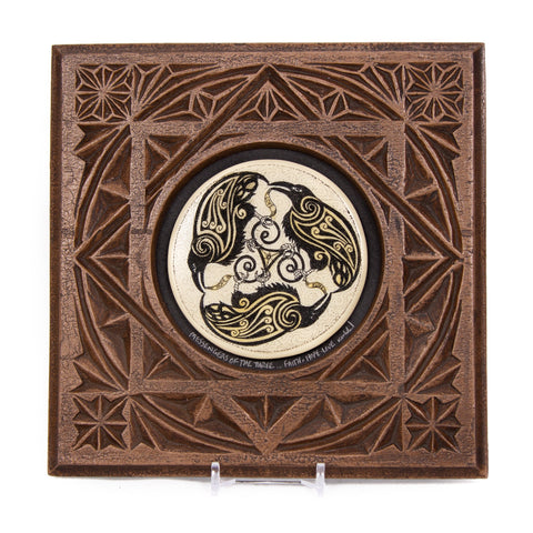 """Messengers of the Three... Faith - Hope - Love"" Large Chip Carved Frame"