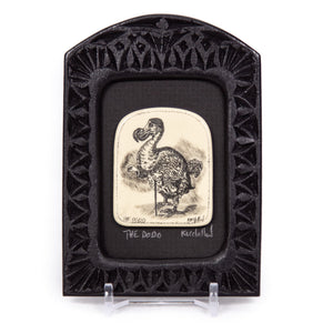"""The Dodo"" Small Chip Carved Frame"