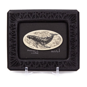 """Humpback Whale"" Small Chip Carved Frame"
