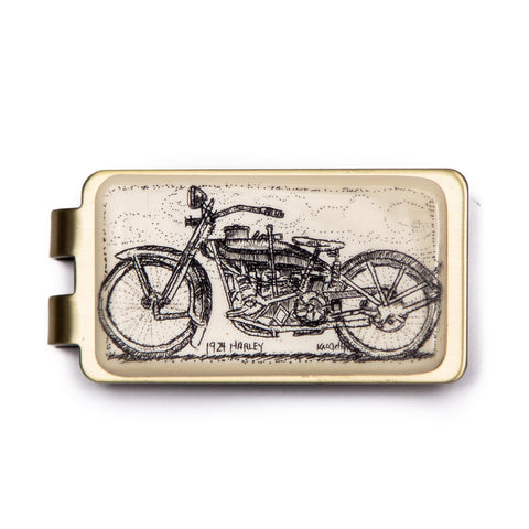 """1924 Harley"" Money Clip"