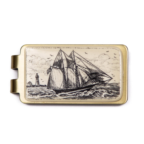 """Chesapeake Bay Schooner"" Money Clip"