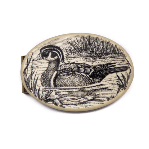 """Wood Duck"" Money Clip"